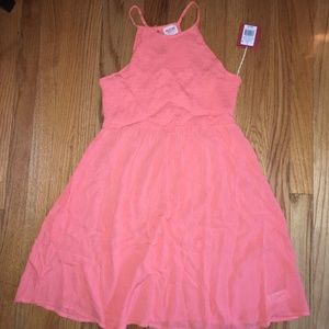 NWT MOSSIMO Coral Stretch Rayon Racerback Dress